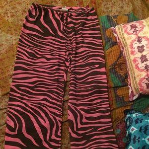 Pink Zebra Stripe Michael Kors Pants
